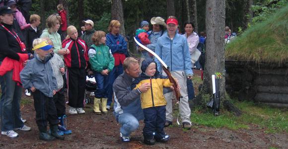 Aktivitet på sommarläger i Hassela år 2005