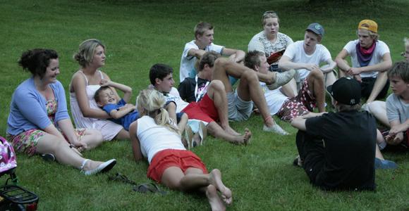 Ungdomar på sommarläger 2008